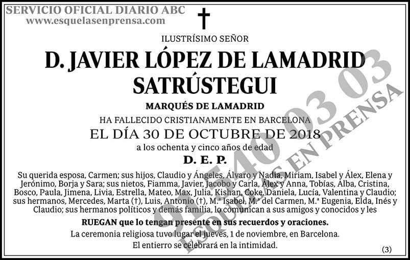 Javier López de Lamadrid Satrústegui
